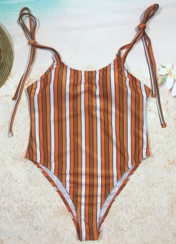 Sexy Women One Piece Swimsuit Swimwear Print Bodysuit Bandage Beach Wear Bathing Suit Backless Monokini