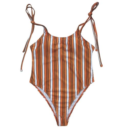 Сексуальные женщины One Piece Купальники Купальники Печать Bodysuit Bandage Пляжная одежда Купальный костюм Backless Monokini