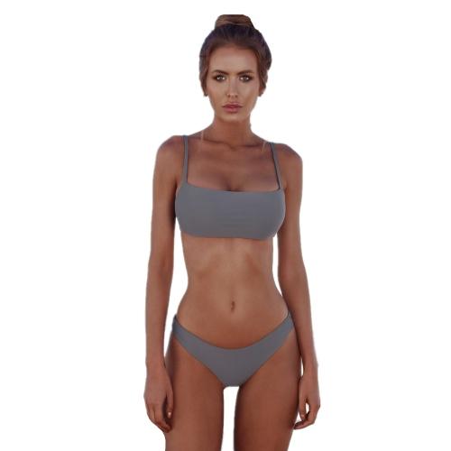 Conjunto de bikini sexy de verano de las mujeres Push Up traje de baño acolchado