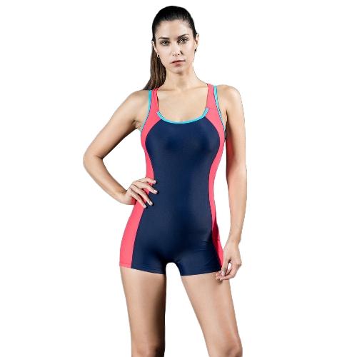 Mujer Deportes Traje de baño de una pieza Trajes de baño traje de baño sin respaldo Traje de baño azul / rojo / gris