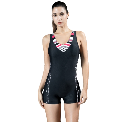 Fashion Women Sports One Piece Swimsuit Professional Racing Stroje kąpielowe Monokini Kostium kąpielowy Kostium kąpielowy Boxer Body