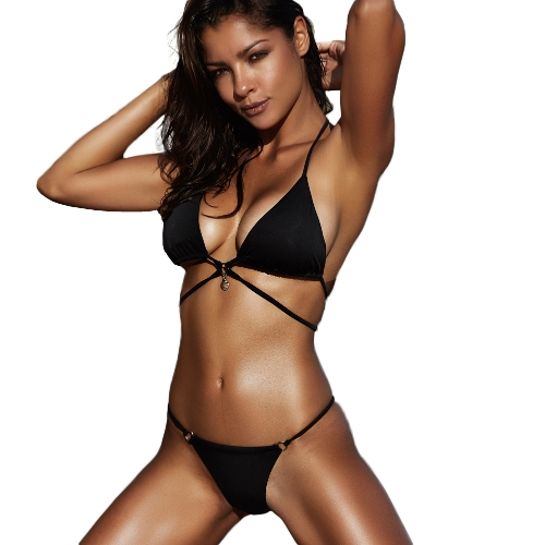Costume da bagno Push Up Swimwear modello Swimwear con motivo di pelle di serpente