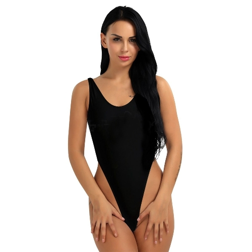Sexy Frauen One-Piece Push-Up Bikini Bademode Monokini High Cut Rückenfreie Trikot Thong Bodysuit