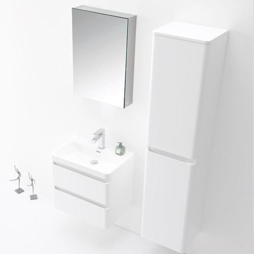 Armoire miroir avec une prise secteur intégrée coloris Blanc