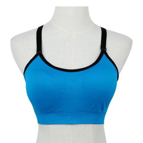 New Sports Bra Push Up Padding Fitness Stretch Breathable Yogo Gym Crop Top