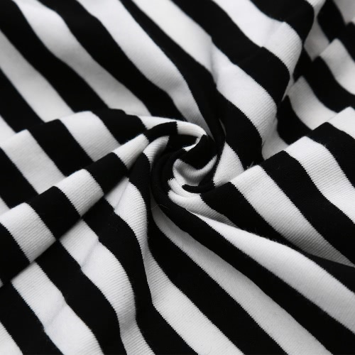 Новые сексуальные женщины комбинезон полосой глубокий V шеи короткий рукав от Zip казуальные игры пляж комбинезон комбинезон черный/белый фото