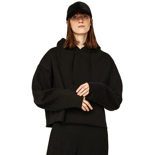 Bluza z kapturem ze sznurkiem z długim rękawem i długim rękawem