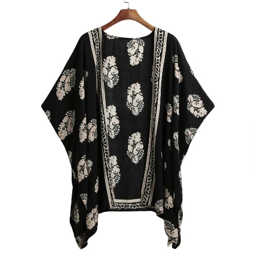 Nowe kobiety Summer Kimono Cardigan Bikini Cover Up Floral Beach Robe Kaftan Bluza Boho Top Beachwear