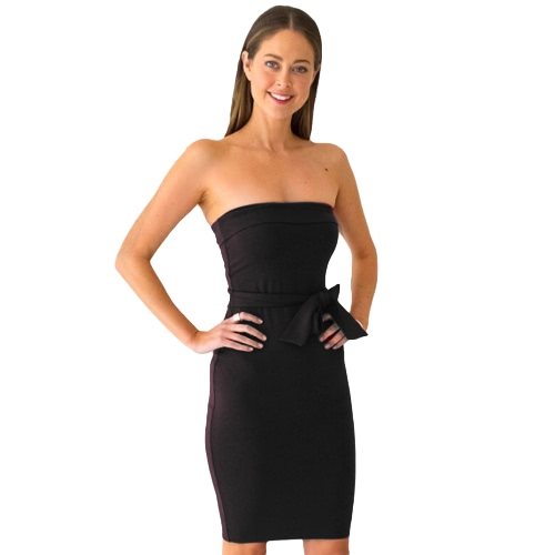Sexy Strapless Backless Strapless Mujeres Vestido Bodycon