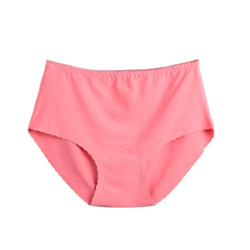 Sexy Mulheres Seamless Briefs Calcinhas Ultra-fina sólida Underwear Lingerie Cueca