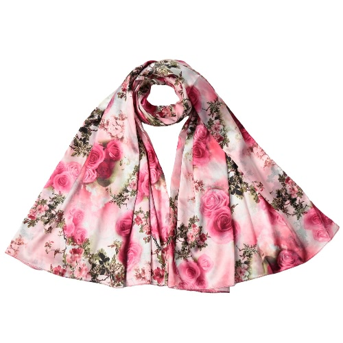 New Fashion Women Silk Scarf Special Pattern Print Long Shawl Elegant Vintage Soft Cape