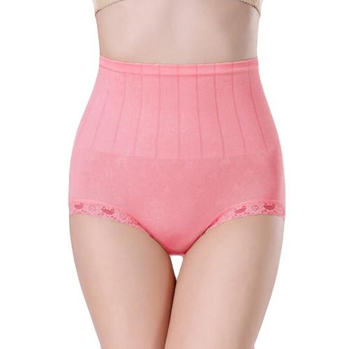 Moda mujeres fajas bragas encaje ajuste del vientre, ropa interior inconsútil cadera Control cuerpo escritos Shaper