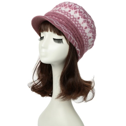 48620bf151152 Women Knitted Beret Hat Beanie Visor Baggy Autumn Winter Warm Crochet Slouch  Cap Newsboy Cabbie Headwear