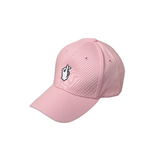 New Fashion Women Men Cap Solid Color Embroidery Pattern Snap Flat Baseball Hip-Pop Cap White/Pink/Black