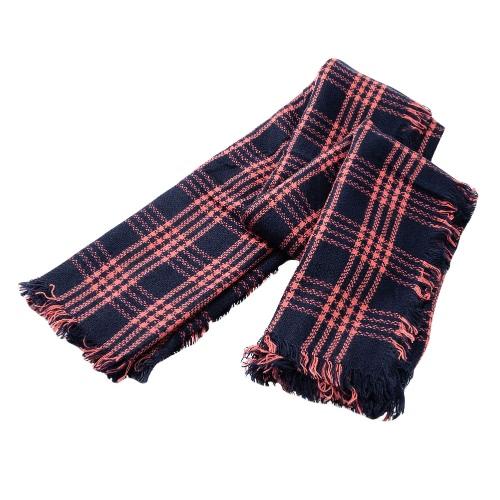 Cabo caliente nuevas mujeres de la bufanda de Pashmina de la tela escocesa de la vendimia impresión de la borla larga del mantón