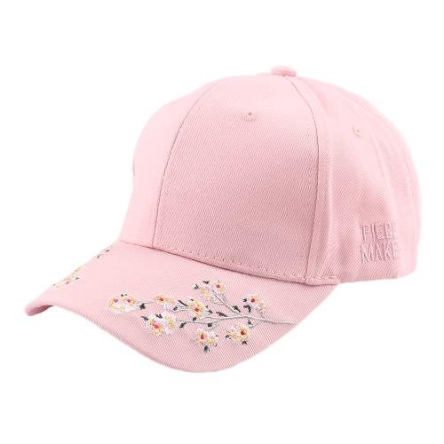 Floral bordado Snapback sombrero de la letra de deportes Hip Hop hombres de las mujeres de béisbol rosa / blanco / negro