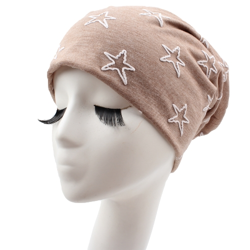 Unisex Hombres Mujeres Beanie Contraste Estrellas Slouchy Baggy Casual Cool Hip Hop Headwear Skullies Hat