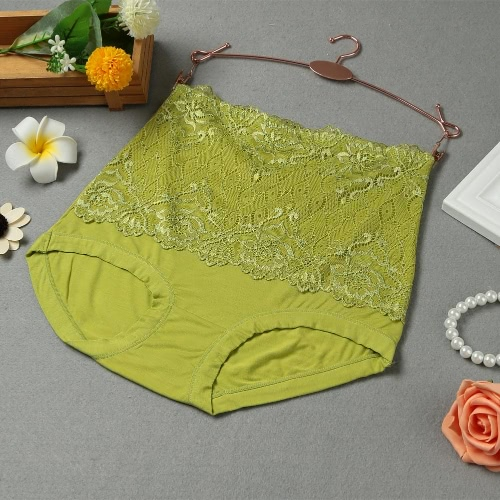 Las mujeres atractivas del cordón de las bragas de cintura alta Briefs talladora del cuerpo de la cadera abdomen de control modal de los calzoncillos de la ropa interior