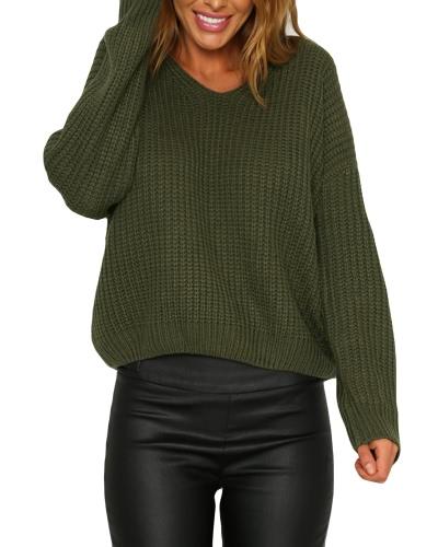 El suéter que hace punto Backless atractivo ata para arriba el suéter del invierno remata las mujeres sueltas ocasionales ahueca hacia fuera el puente del Knitwear