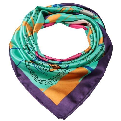 Neue Art und Weise Frauen quadratischer Schal Vergnügungspark Print Stirnband Kerchief Chic-Schal Pashmina
