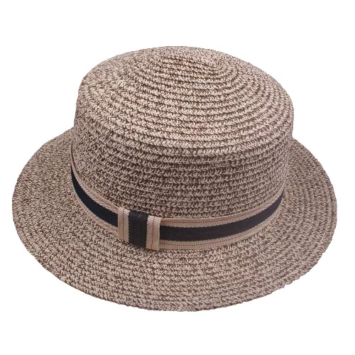New Fashion Women Chapéu de palha Chapéu Trim Wide Brim Summer Sun Beach Holiday Cap Fedora Trilby Hat
