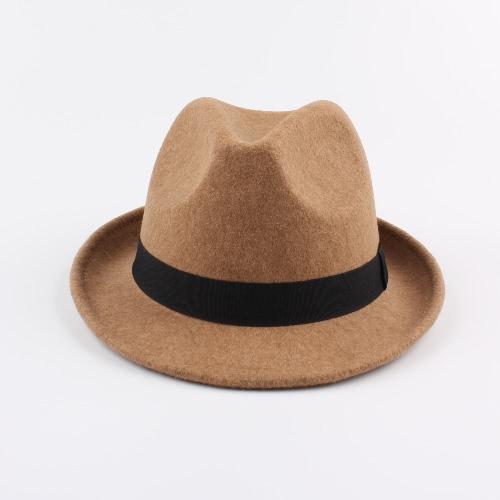 Ancho Brim Hombres Mujeres Sombrero Fedora Gorra Jazz Sombrero Unisex Sol Sombrero Sunbonnet Sombrero Trilby Sombrero Panamá