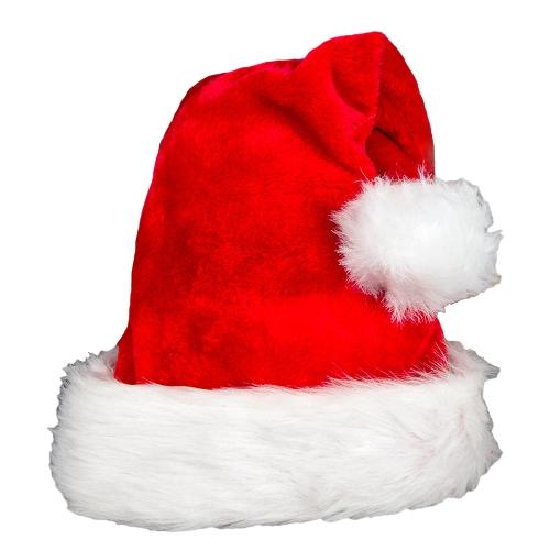 Kobiety Mężczyźni Święty Mikołaj Hat Plush Xmas Cap Święty Mikołaj Festiwal Dekoracje Czerwony