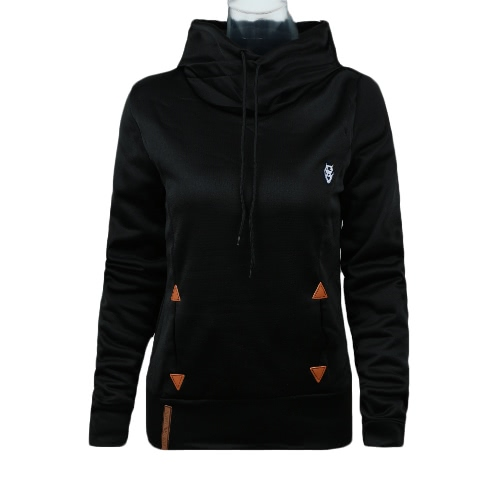 Nouveau mode Hoodie Sweatshirts se nouer poches pull capuche lâche hauts femmes