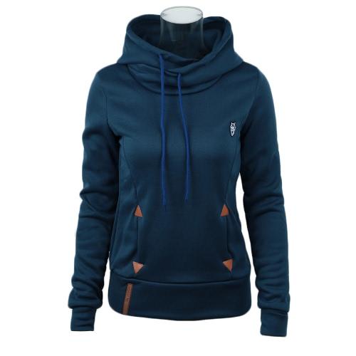 Nuevas mujeres Hoodie sudaderas bolsillos atar suéter con capucha suelta tapas de la manera