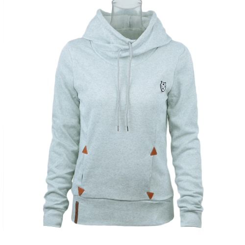 New Fashion Women Hoodie Sweatshirts Self-tie Pockets Pullover Hooded Loose Tops