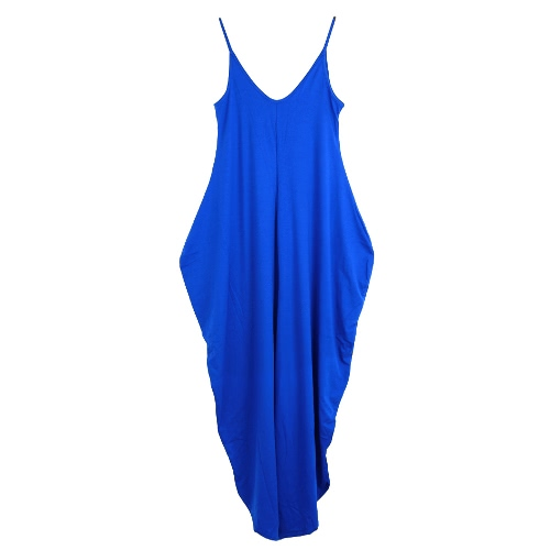 Tomtop coupon: New Sexy Women Jumpsuits Deep V Neck Open Back Sleeveless Irregular Baggy Legs Large Size Rompers Playsuits