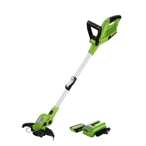 18V Lítio Lon 10-Inch peso leve sem fio String Trimmer Edger Auto Single-Line Feed cortador de grama
