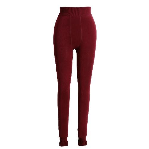 Nouveau Femmes Sexy Winter Leggings solides épais collants chauds haut élastique Skinny moulantes Pantalons jeggings