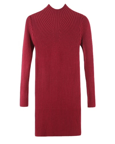 Herbst Winter Frauen Strick Pullover Kleid Pullover Pullover Langarm Casual Bodycon Solid Strickwaren Top