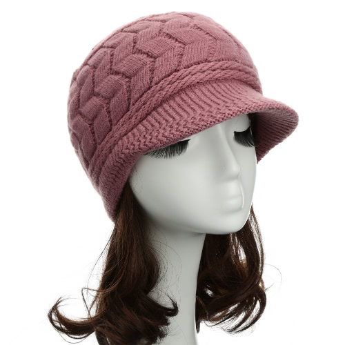 Las mujeres de moda de punto boina Crochet Slouch Baggy Beanie cálido invierno sombrero tapa sombrero
