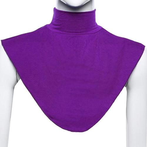 Neue Art und Weise moslemischen Schal-Fälschungs-Kragen-Normallack-elastische Ansatz beiläufige Schal