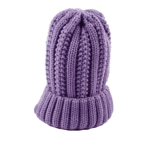 冬の暖かい帽子ユニセックスレディースメンズニットビーニーソリッドカラーリブニットキャップ