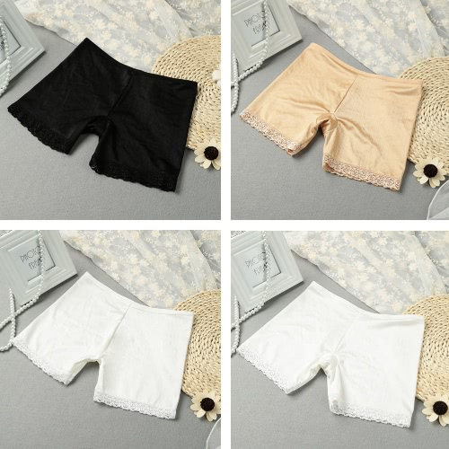 Fashion Women Safety Shorts Pants Lace Cuff Elastic Waist Stretch Boyshorts Seamless Underwear Short Leggings