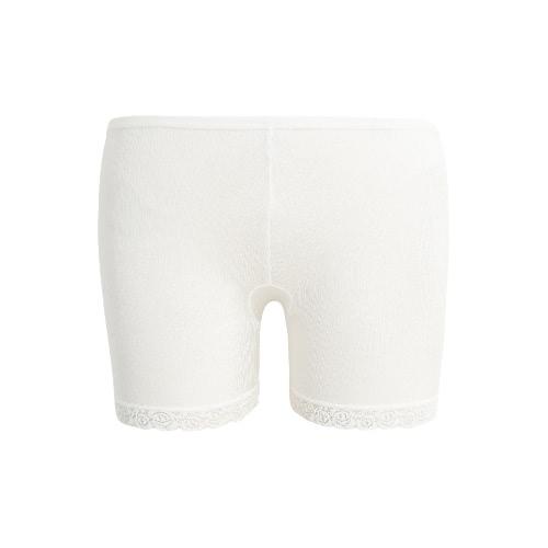 Moda feminina Segurança Shorts Calças Lace Cuff elástico na cintura do estiramento Boyshorts Underwear Seamless Leggings Curtas