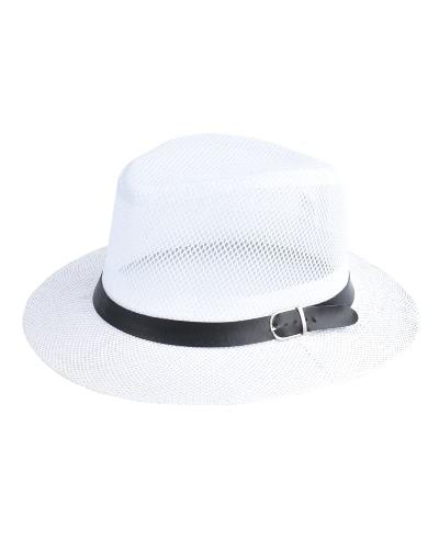 Mujeres Primavera Verano Sum Casquillo Hollow Out Wide-Brim Fedora Sombreros Bowler Floppy Straw Caps Beach Sunhats
