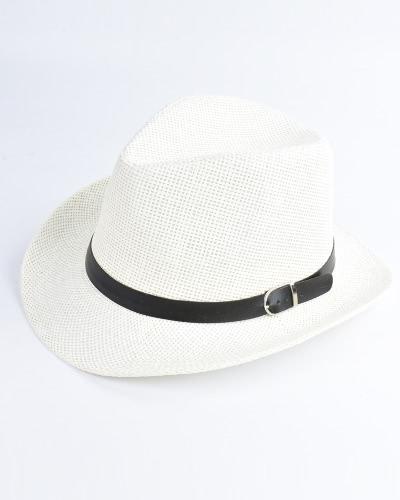 Nuevo sombrero de paja de los hombres del verano Ancho-Borda plegable de la playa del día de fiesta casquillo flojo ocasional Sunhats
