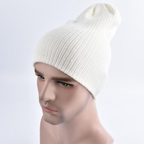 Unisex Mujer Hombres Tejido Elástico Beanie Color Sólido Ribbed Slouchy Casual Deporte Al Aire Libre Invierno Kullies Hat