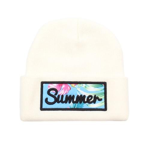Männer Frauen Beanie Hut Brief Erwachsene Lässig Unisex Acryl Hut Mütze Wintermütze Mütze Weiß