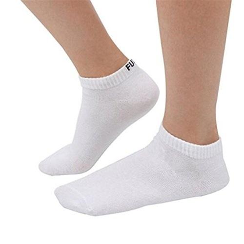 1 par de palabras únicas de algodón calcetines de barco