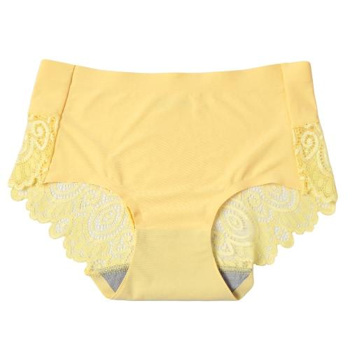 Mujeres bragas de encaje Calzoncillos inconsútil ultrafino Unerpants la ropa interior transpirable atractivo sólido