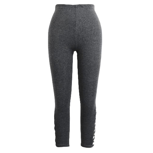 Mulheres Pants Calças de Fitness Elastic Leggings Tights escultura Workout Sportswear Preto / Light Grey / Dark Grey