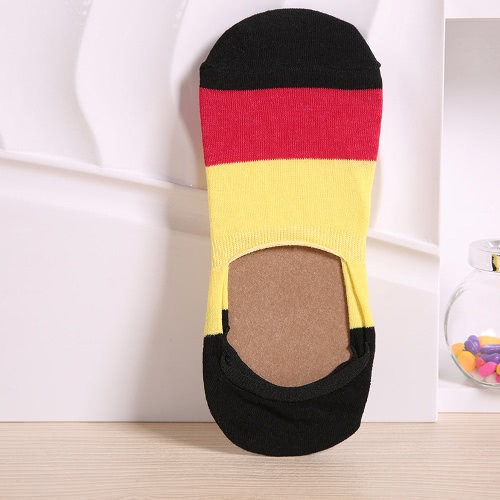 1 par mujeres hombres No calcetines Mostrar corte no Invisible Silicon talón bajo resbalón calcetines de mocasín de barco