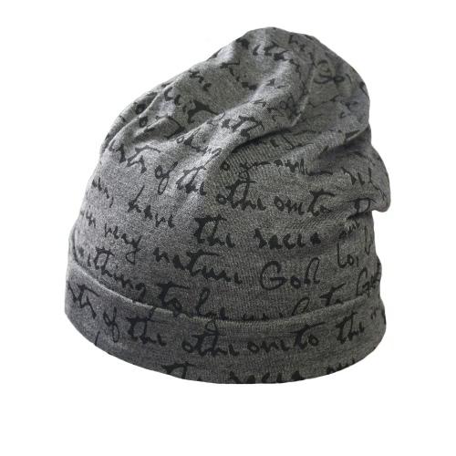 Las mujeres del invierno del sombrero unisex de la gorrita tejida caliente de Hip-hop del casquillo Skullies impresión de la letra del casquillo de la danza