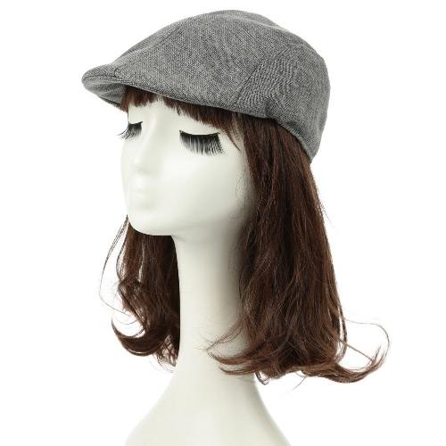 Unisex vendimia de las mujeres de los hombres enarboló el sombrero Gorra transpirable de la boina del vendedor de periódicos Cap taxista Headwear