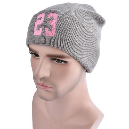 Hombres Mujeres Gorro Gorras Gorro Bordado Número Dome Sombrero De Otoño Invierno Caliente Hat Sombrero De Cráneo